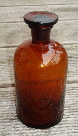 Alte Braune Apotheker - Flasche Apothekerflasche Gefäß 250 Ml - Top Bild