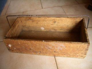 Sehr Alte Zimmermanns Werkzeugkiste,  Werkzeugkasten,  Tragekiste Aus Holz Bild