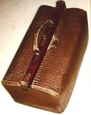 Alte Schöne Leder Arzttasche Bild
