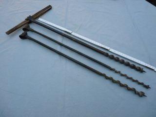Altes Werkzeug,  Bohrer,  Stangenbohrer Ø 14,  Ø 18,  Ø 20,  Länge 600 Mm Bild