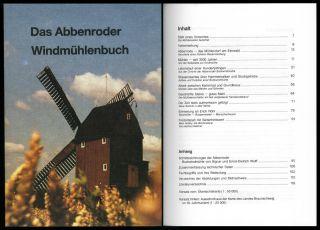 Abbenrode Windmühlenbuch Mühlentechnik Mühlengeschichte Müller Mühlen Bild