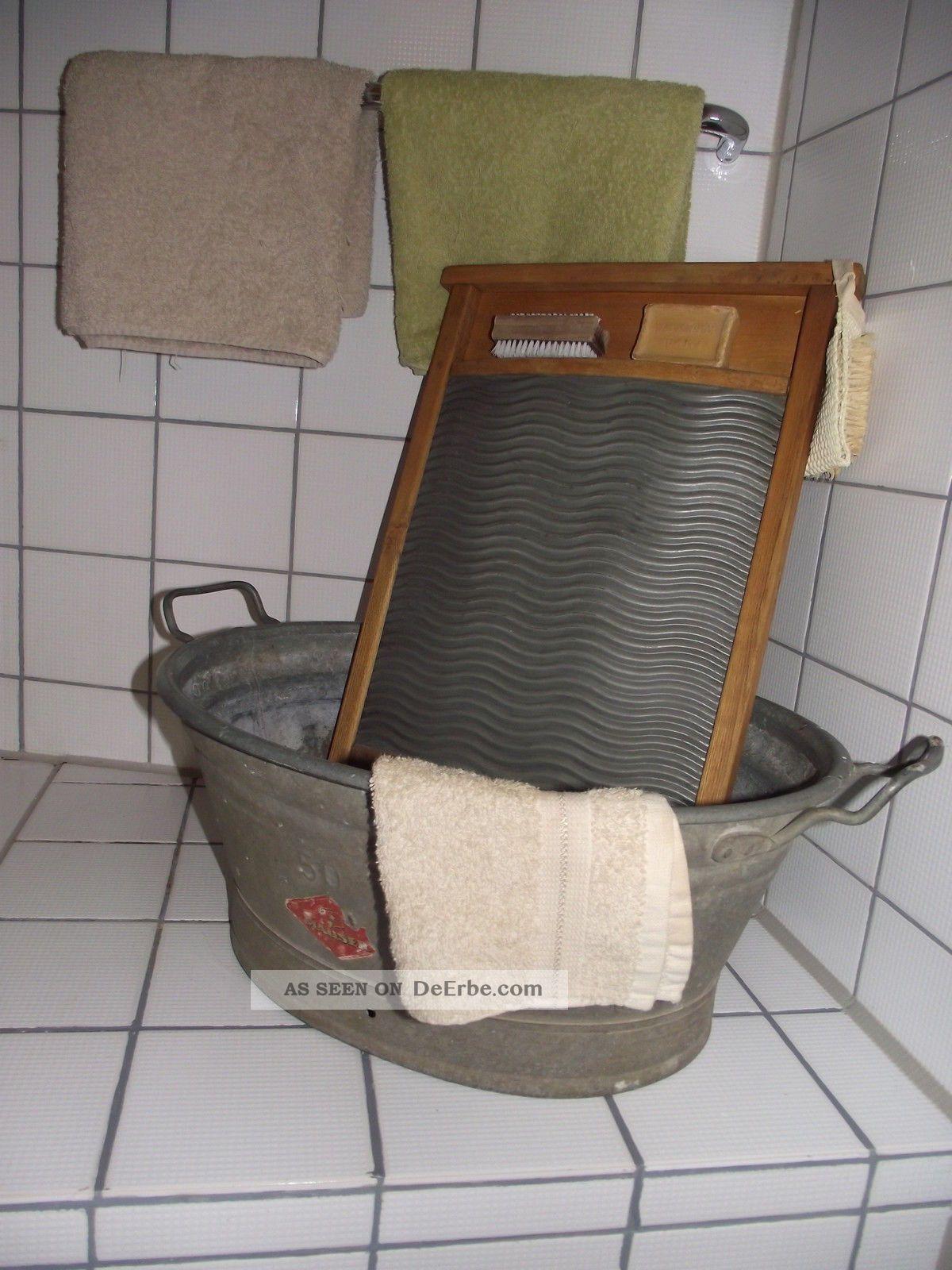 rarit t alte kleine 50 liter zink zinkwanne wanne vintage. Black Bedroom Furniture Sets. Home Design Ideas
