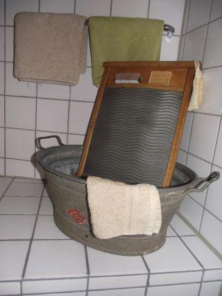 RaritÄt Alte Kleine 50 Liter Zink Zinkwanne Wanne Vintage Shabby Chic Landhaus Bild