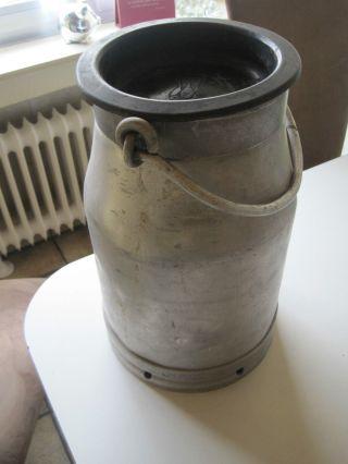 Alte Alu Milchkanne 10 Liter Mit Gummideckel Bild