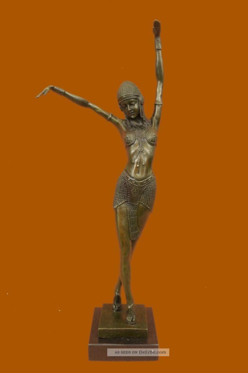 Skulptur Bauchtänzer Bronze Art Deco - Chiparus - Statue Heißgus Statue Antike Bild