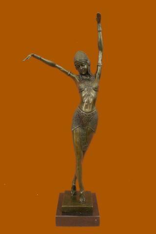 Skulptur Bauchtänzer Bronze Art Deco - Chiparus - Statue Heißgus Statue Bild