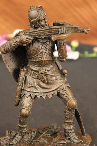 Unterzeichnete Kamiko Japanischer Samurai Krieger Bronze Figur Bild