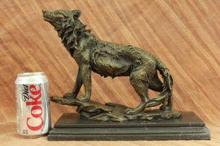 Art Deco Wolf Deutsch Shepard Bronze Sculpture Museum Quality Figurine Abbildung Bild