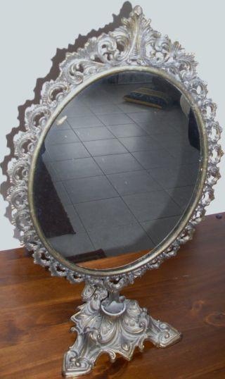 Antik Spiegel Mit Tollen Verzierungen,  Antique Mirrors,  Miroirs. Bild