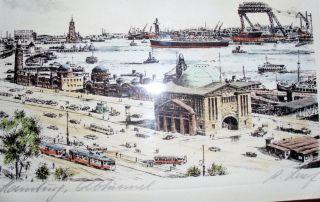 Künstler,  Signiertes Bild Hamburg, Bild