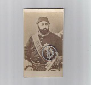 Osmanische Sultan.  Porträt Sultan Abdülaziz 1861 Visit Photo Kairo. Bild