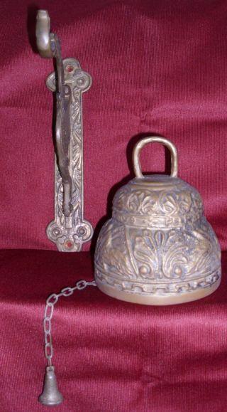 Antik Glocke Mit Halterung.  Wunderschöne Verzierungen Bild