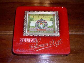 Antik,  Rare,  Egyptian,  Sultan,  Antik Zigaretten Dose Sultan Bild