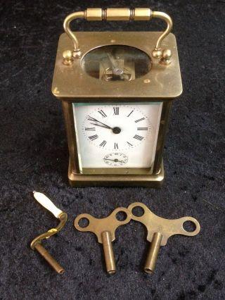 Historischer Reisewecker Mit Schlüssel Und Aufzieher Orginalzustand H=14cm Glas Bild