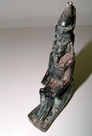 Altägyptische Statuette Des Pharao Amenophis Iii Bild