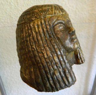 Antik ägyptischer Kopf Einer Prinzessin Der 18.  Dynastie.  Massiv Bild
