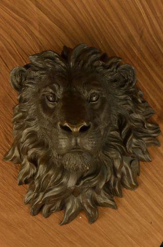 Huge Western Art Bronze Wand Dekoration König Der Löwen Tiere Skulptur Figur Bild
