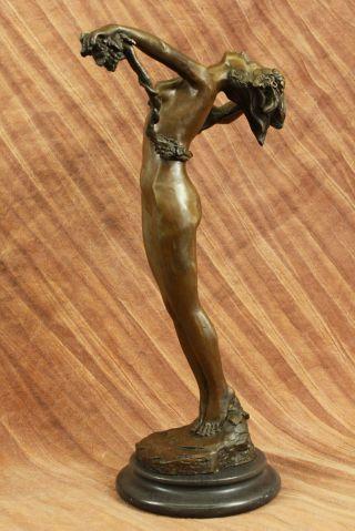Heiß Guss Nackte Frau Wein Statue Jugendstil Deko Marmorunterseite Figur Dekor Bild