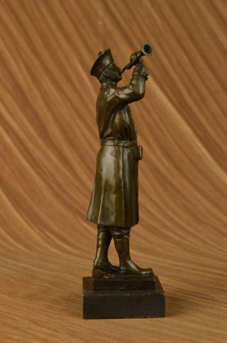 Bronze Marmor Statue Soldat Krieger Militärheld Art Deko Marmor Skulptur Bild