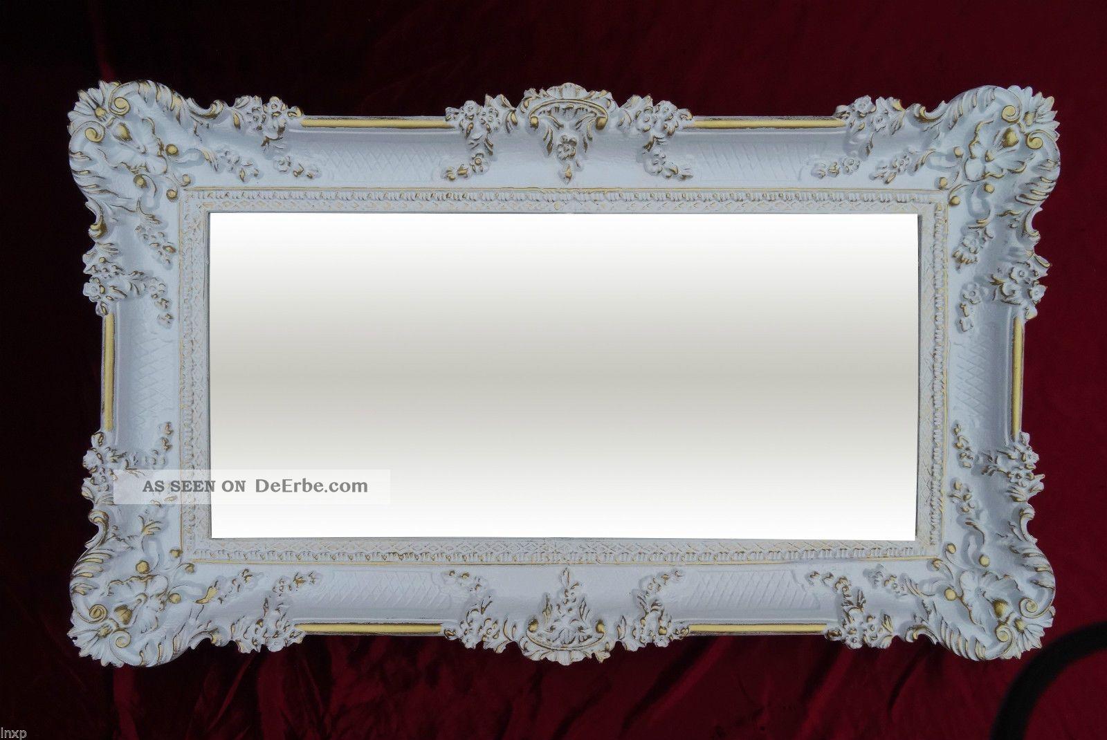 Wandspiegel wei gold 96x57 barock spiegel wanddeko shabby chic retro design 3 - Spiegel wanddeko ...