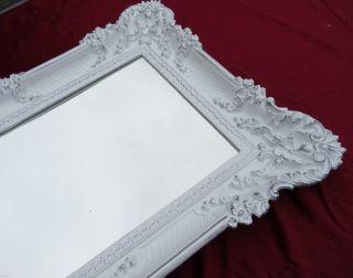 Wandspiegel Weiß Gold 96x57 Barock Spiegel Wanddeko Shabby Chic Retro Design 3 Bild