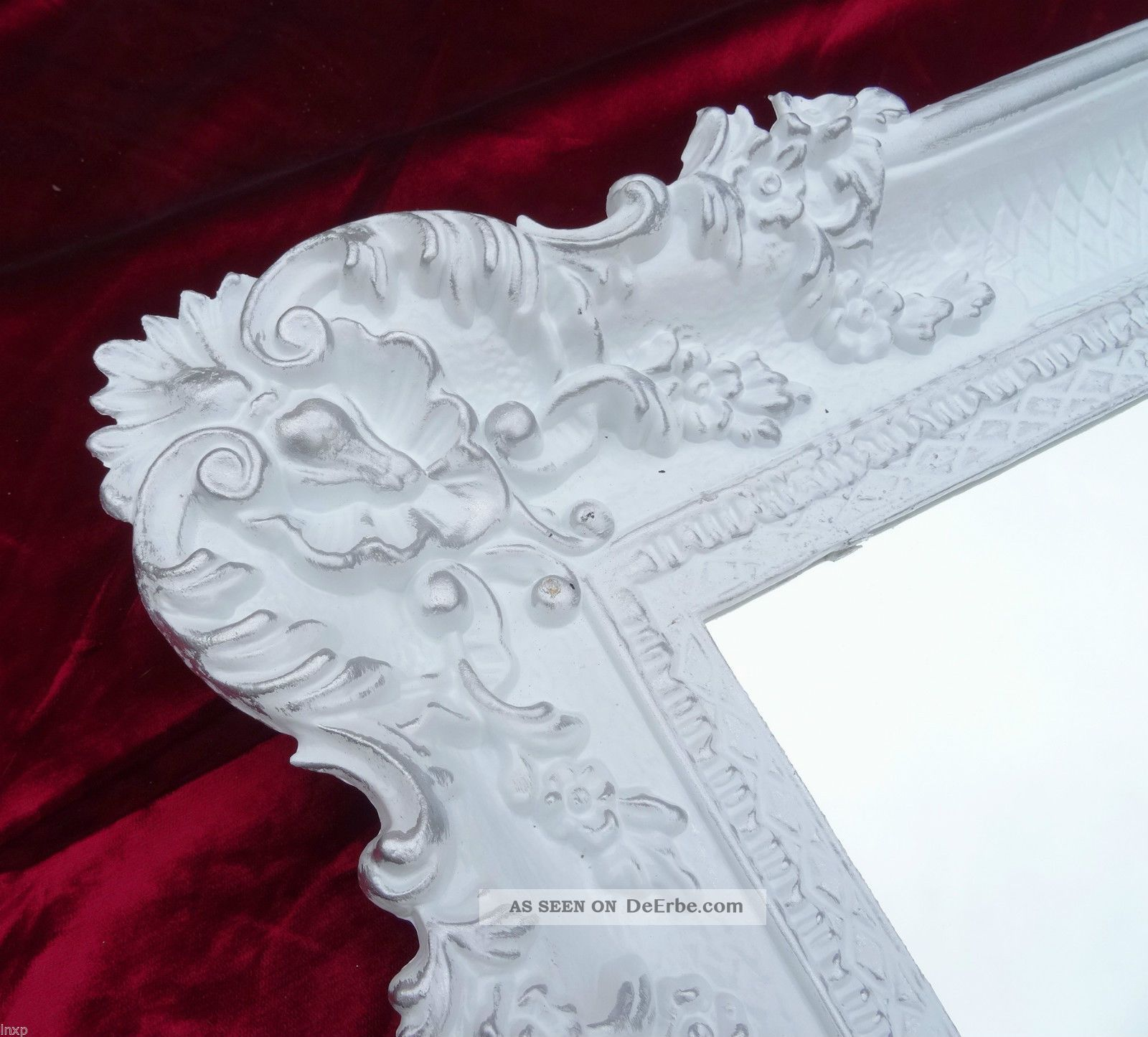 Wandspiegel wei gold 96x57 barock spiegel wanddeko shabby for Wanddeko shabby