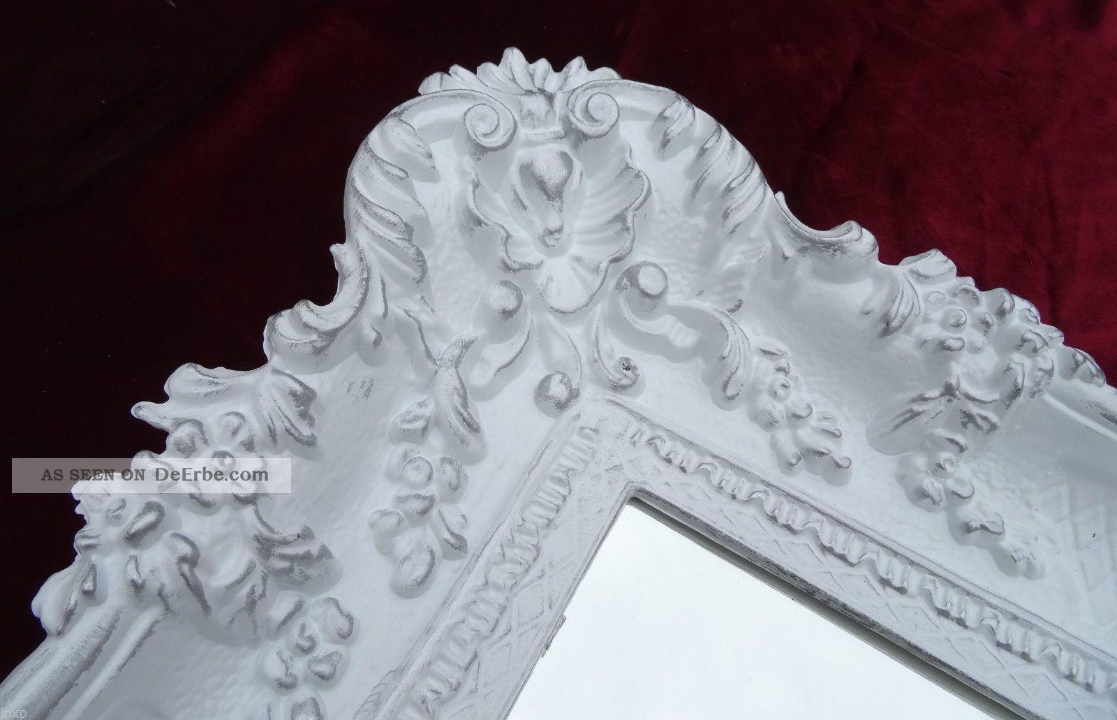 Wandspiegel wei gold 96x57 barock spiegel wanddeko shabby for Shabby chic wanddeko