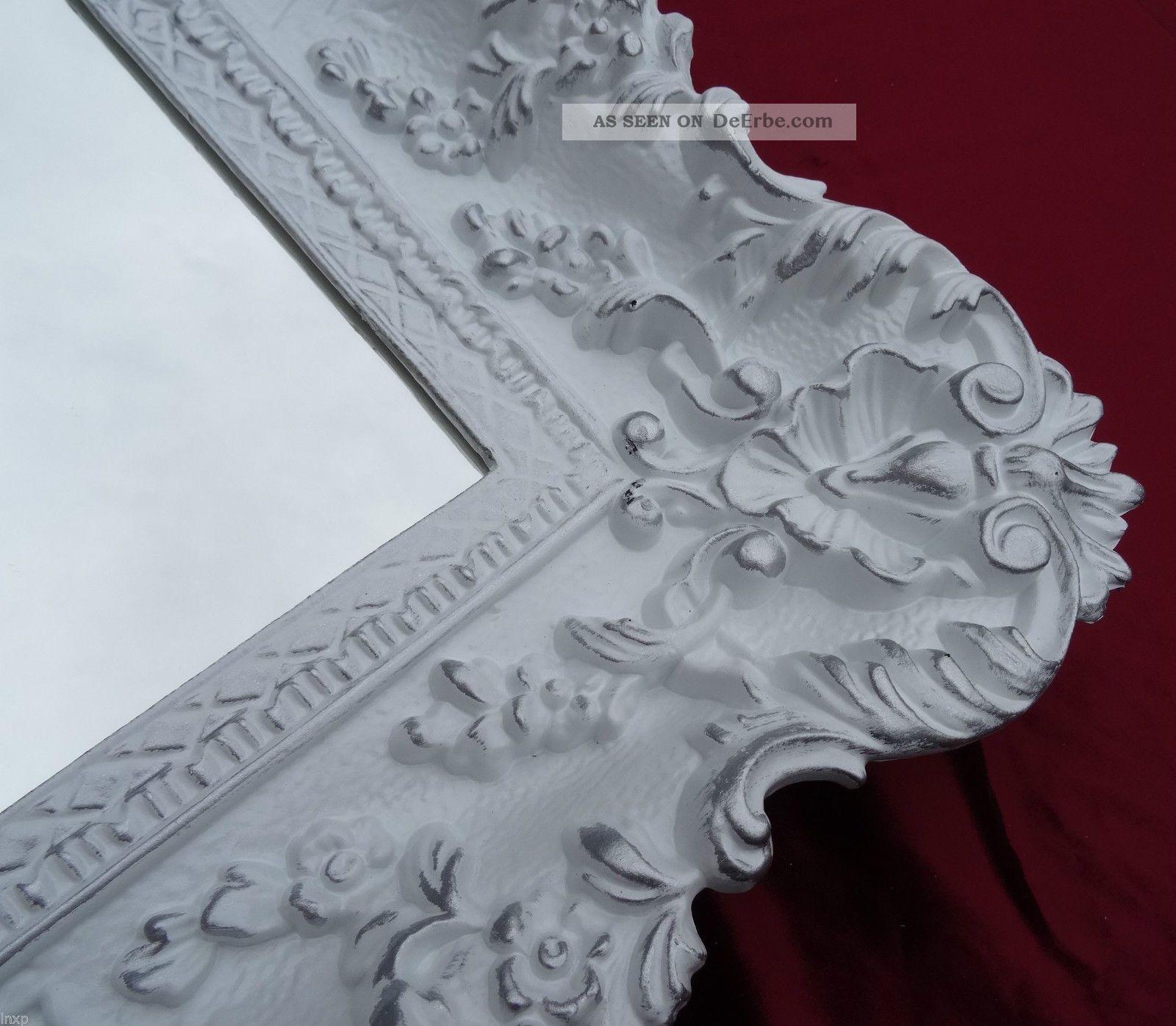 wandspiegel wei gold 96x57 barock spiegel wanddeko shabby. Black Bedroom Furniture Sets. Home Design Ideas
