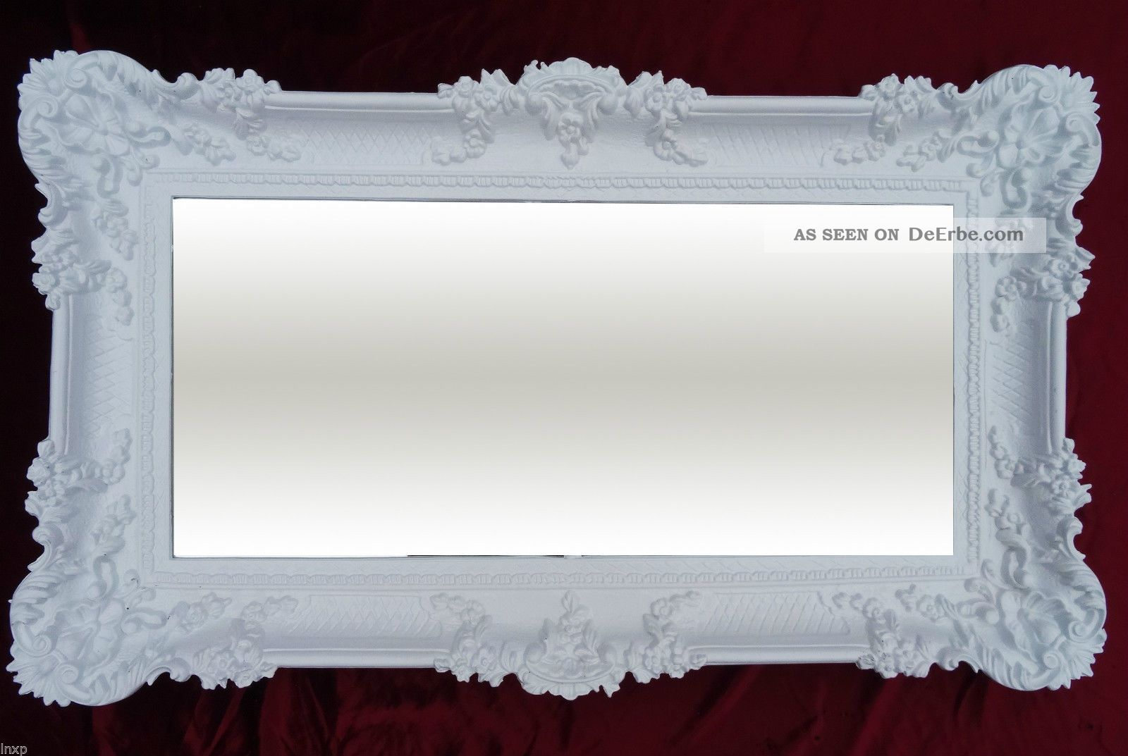 Wandspiegel Weiß 96 X57 Antik Barock Rokoko Spiegel Shabby Chic ...