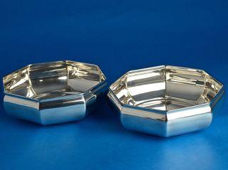 Silber,  Zwei 8 - Eckige Schalen Bild