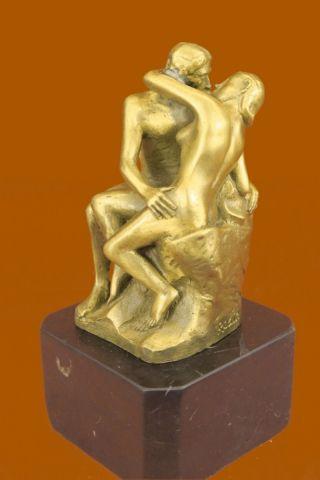 Bronze Skulptur Statue Figur Rodin Küssendes Liebespaar 100 Echt Bronze Bild