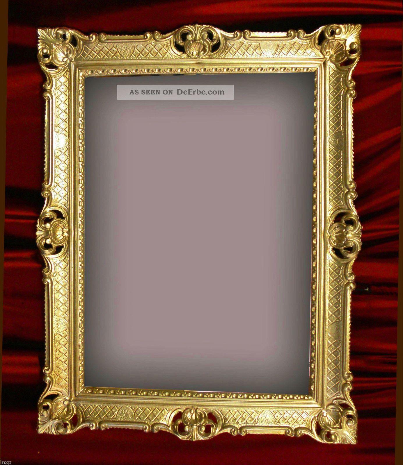 wandspiegel gold antik barock rokoko 90x70 cm wanddeko eingangsspiegel repro. Black Bedroom Furniture Sets. Home Design Ideas