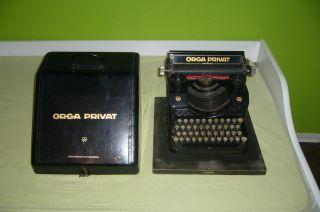 Alte Orga Privat Schreibmaschine Mit Blechkasten,  Rar Bild
