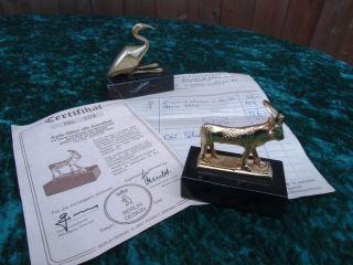 Apis Stier 24 K Hartvergoldet U.  Vogel Berlin Design Zertifikat Ägypten Bild