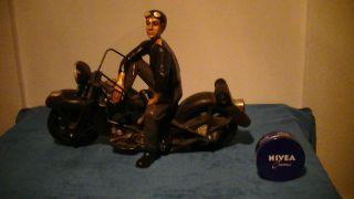 Motorrad,  Fahrer,  Standmodell,  Harley ?,  Antik Stil,  Dekoration,  Kein Spielzeug Bild