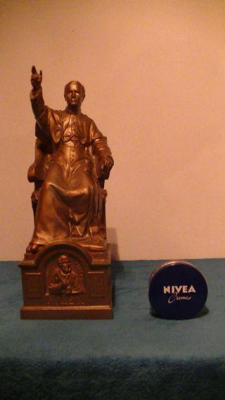 Alte,  Grosse Figur Vom Papst,  Heilger Vater,  Metall Guss 3 Kg,  Antik Bild