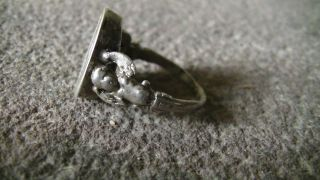 Alter Siegelring,  Ring,  Silber,  Punze,  Gepunzt,  Initialen,  Engel,  Antik Bild