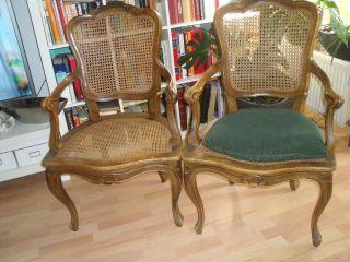 Antike Stühle 2 St. ,  Mit Geflecht Bild