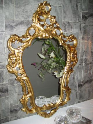 Exklusive Repro Spiegel Wandspiegel Gold 50 X 76 Antik Barock Wanddeko 118 3 Bild