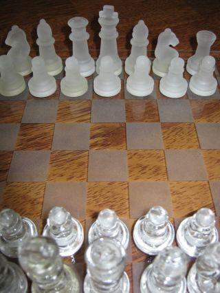 Schachspiel Aus Edlem Glas Ovp Bild