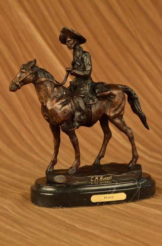 Amerikanische Statue Handfertigung Will Rogers Von C.  M.  Russell Western Figur Bild