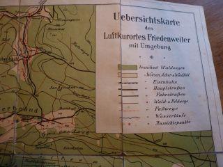 Luftkurort Friedenweiler Übersichtskarte Von 1913 Bild