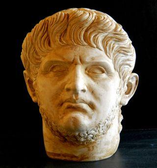 Meisterguss: Kaiser Nero - überlebensgroßer Kopf - 1.  Jhr.  N.  Chr. Bild