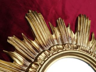 Barock Antik Wandspiegel Sonne In Gold 42x42 Cm Rund Runder Repro Spiegel Sun 13 Bild