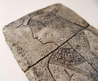 Antik ägyptische Reliefplatte Der Isis (tempel Von Kalabscha) Bild