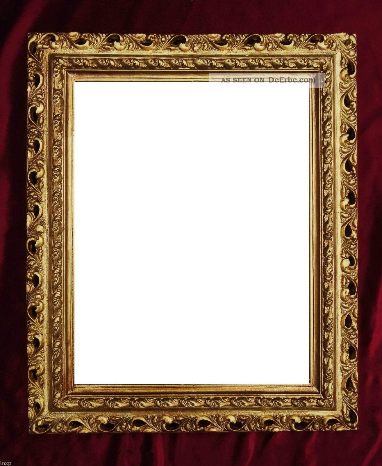 wandspiegel 43x36 spiegel barock rechteckig gold bilderrahmen arabesco 3. Black Bedroom Furniture Sets. Home Design Ideas