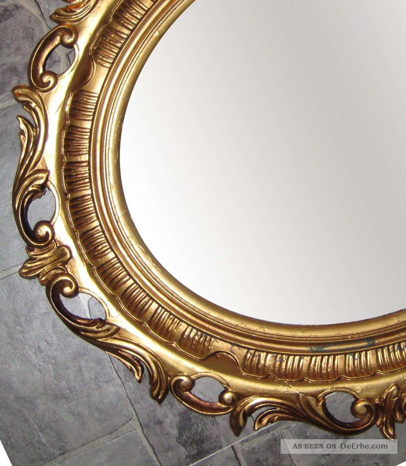 wandspiegel spiegel gold antik barock 58x68 cm modern oval rokoko 41 8. Black Bedroom Furniture Sets. Home Design Ideas