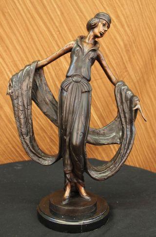 Bronze Skulptur Tänzerin Kunst Neuheit Bänder Heißguß Wachs Figur Bild