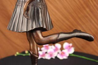Große Bronze Nouveau Deko Skulptur Dh Chiparus Tänzer Statue Bild