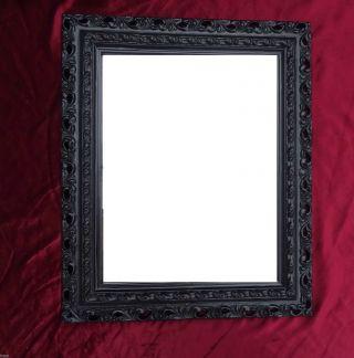 Wandspiegel 43x36 Spiegel Barock Rechteckig Schwarz Bilderrahmen Arabesco 3 Bild